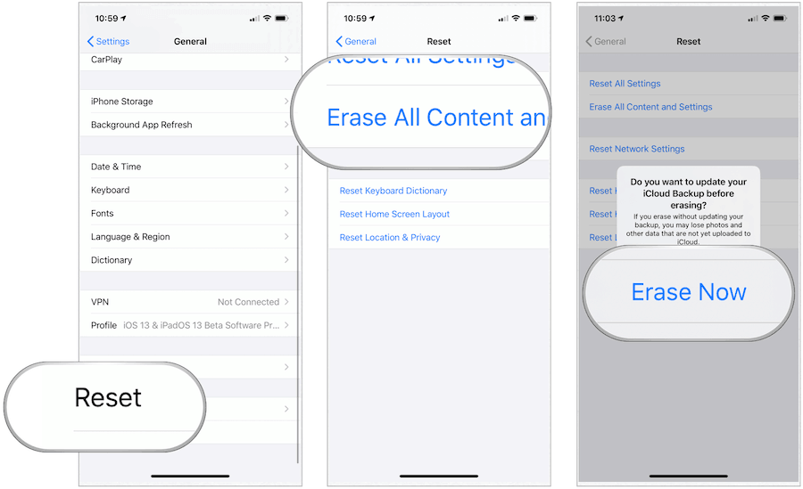 iOS Erase Now